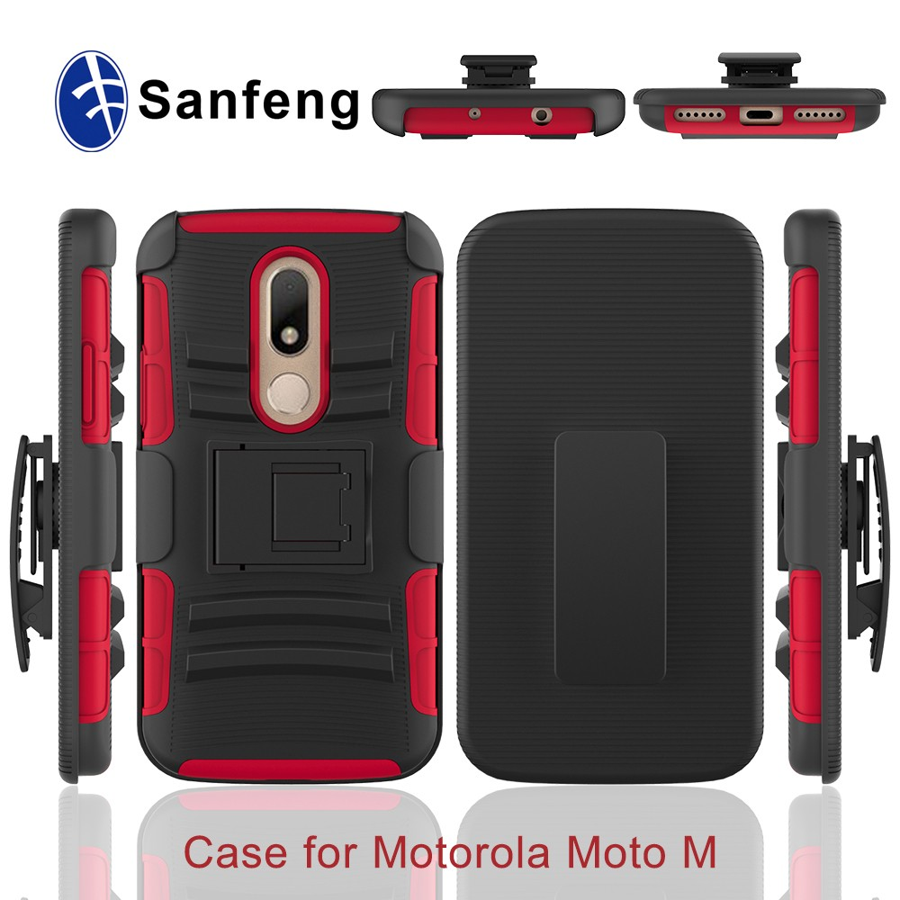 Best sell product mobile phone shell pattern holster case 3 in <strong>1</strong> For Moto <strong>M</strong>