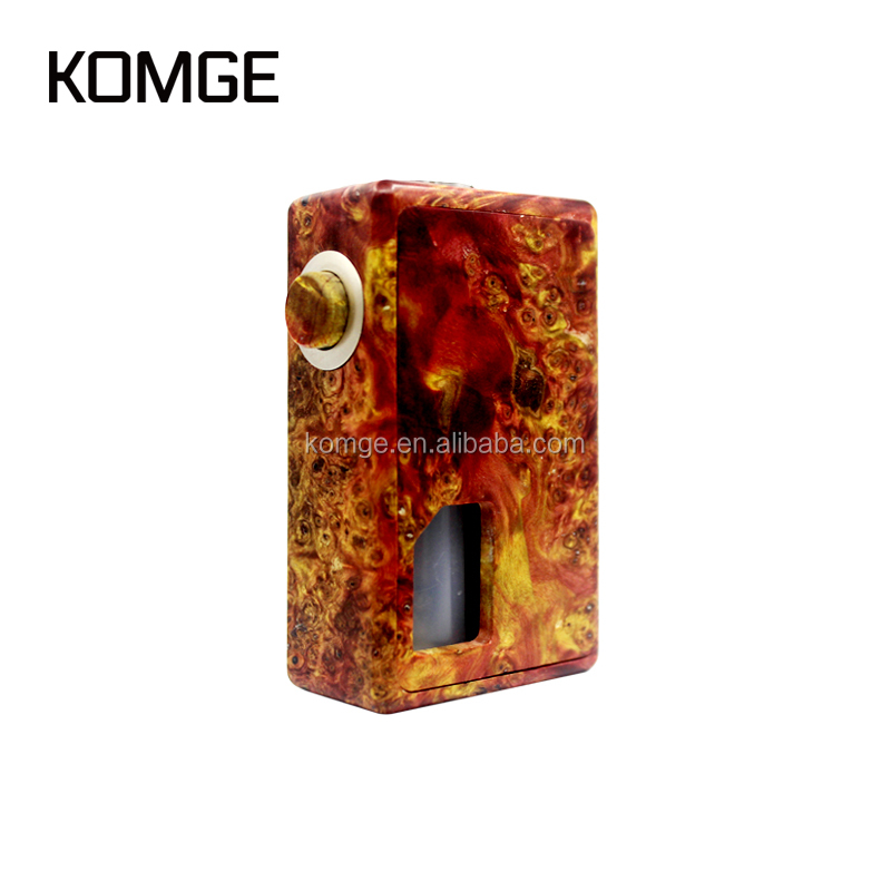 Komgetech Stabwood Cigar E-cigarette Single 18650 Vape Mechanical Squonking Mods Box