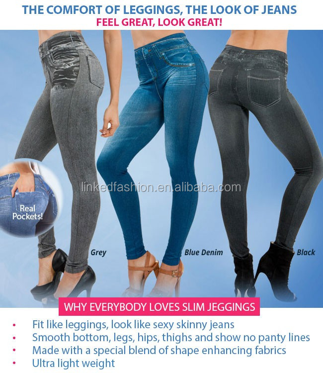 2016 New Fashion Womens Ladies Denim Jeans Sexy Skinny Leggings Jeggings Tights Stretch Pants Trousers