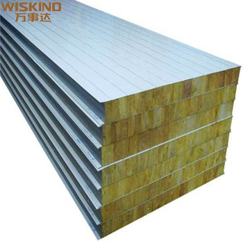 fireproof insulation RockWool Sandwich Panel for steel structure warehouse