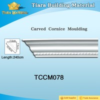 Tiara Building Material high density polyurethane crown moulding for interior wall and ceiling