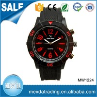 Fashion mens trend design japan movement silicone quartz wrist watch men