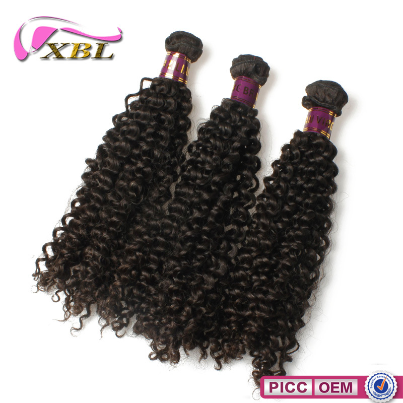 2016 most popular raw unprocessed virgin Brazilian curly wave hair weft