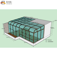 Aluminium glass sunroom for solarium outdoor gazebo polycarbonate garden room