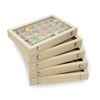 Wholesale cheap Custom jewelry packaging stand Earring display wood box