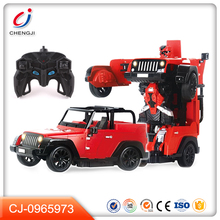 New one key deformation model robot rc electronic car toys