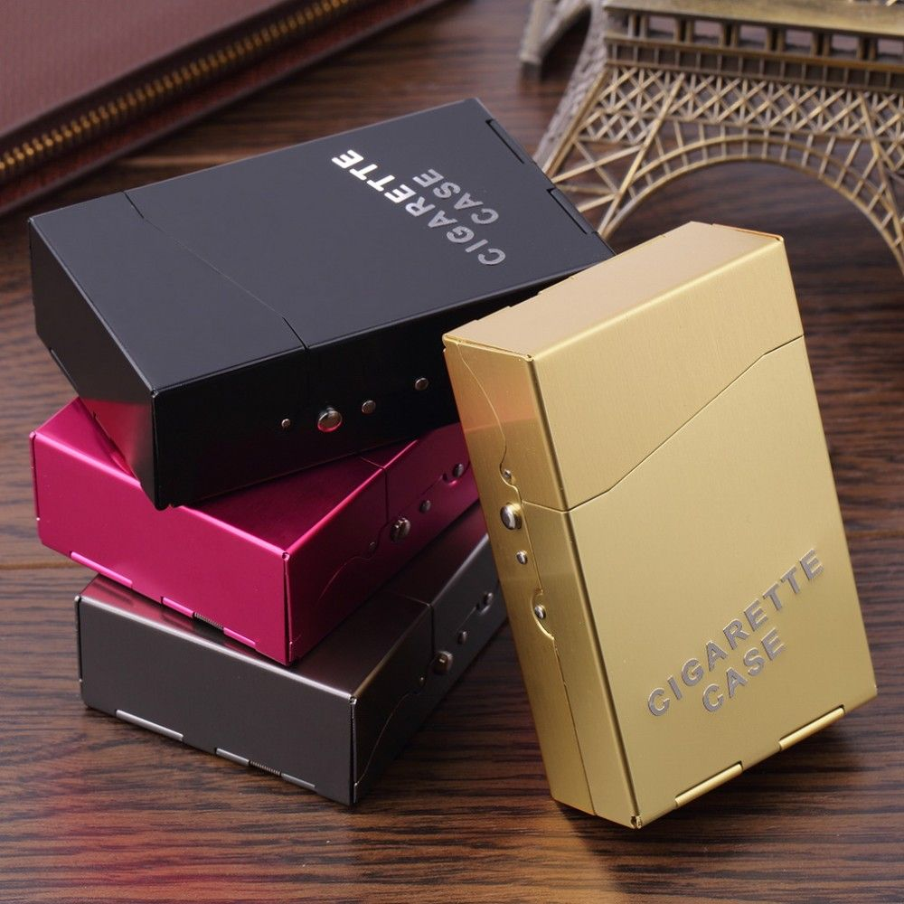 1Pc Portable Lady Women Slim Aluminum 20 Pieces Cigar Cigarette Tobacco Holder Storage Case Pocket Box Drop Shipping
