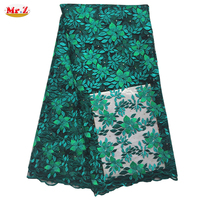 High Quality African Lace Fabric Material For Clothes With Stones N1047