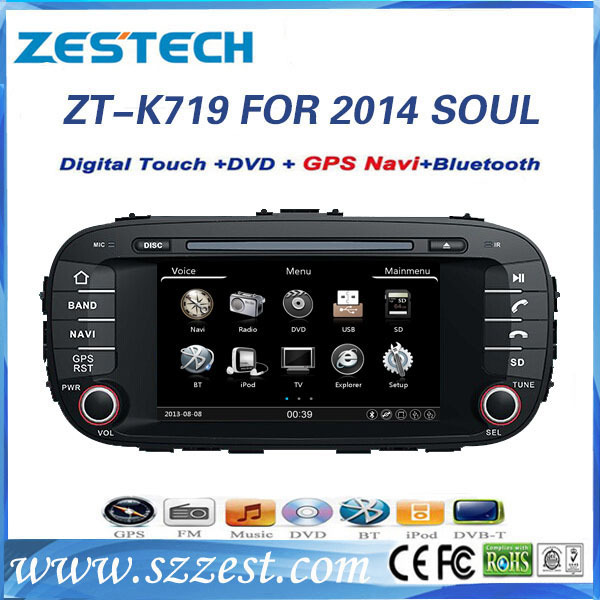 car dvd for for Kia Soul 2014 car dvd with gps 2 din touch screen car multimedia navigation system ZT-K719