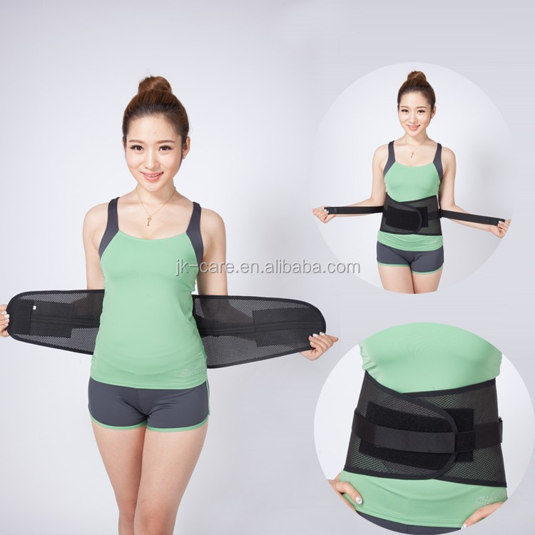 Lumbar back support fashion breathable Waist training belt / waist trimmer