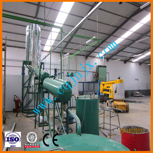 New technology for waste management !JNC china waste car/truck/vehicle oil regeneration plant to diesel oil