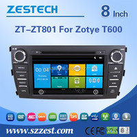ZESTECH 8 inch 2 din high quality car accessories for ZOTYE T600 car spare parts with autoradio GPS Wifi 3G Steering Bluetooth 5