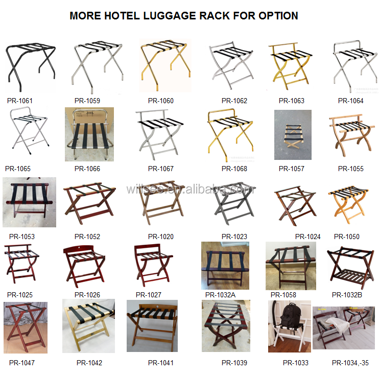 PR-1053,Wooden Hotel Room Suitcase Rack,Hotel Room Foldable Wooden Luggage rack