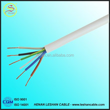 flexible cable wire multi copper stranded 6 core electric cable