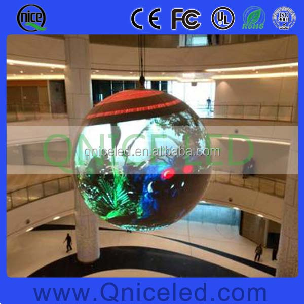 360 degree LED video display/Circular advertising LED screen/sphere LED video ball screen