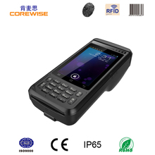 Hot handheld 4G Android 6.0 OS with thermal receipt printer free SDK/RFID/Fingerprint/barcode scanner with built in pos printer