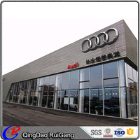 Prefabricated Car showroom design multi-storey steel structure