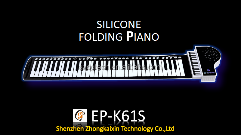 separable flexible silicone piano,roll up electric eletronic piano,shenzhen EP-K61S, 88