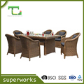 7pcs Alum Rattan Table Sets Outdoor Garden furniture