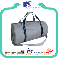 Latest high quality wax canvas teen sports gym bag with secret compartment