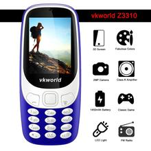 2.4inch High Quality Low Price Mobile Phone Vkworld 3310 Memory 32MB+32MB Camera2MP Very Convenient Older Phone