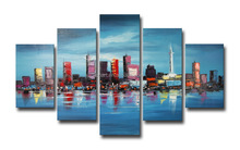 Wholesale Stretched Beautiful Cheap Group Oil Painting