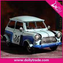 handmade miniature antique metal model cars for home decoration