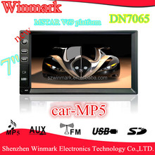 7inch double din car mp5 with USB/SD/Radio/AUX/Bluetooth functions and 1080P multimedia