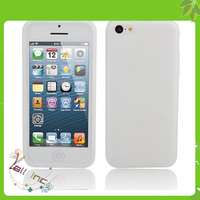 Mobile Phone Silicone Case for iPhone 5C White