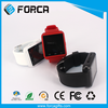 2016 New Electronic Item China LED Mirror Touch Screen Bracelet Hand Watch Phone
