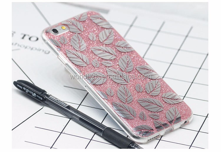 Shinning IMD silicone case for iphone 7, fashion gift PC TPU mobile phone case