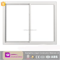 2016 latest white color aluminium sliding window with double tempered clear glass