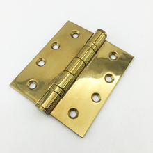 Stainless steel ball bearing polished brass golden color door pivot butt hinge