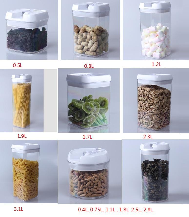 Promotion plastic pp 3pcs 450ml 900ml 1600ml rectangular for Decor 900ml container