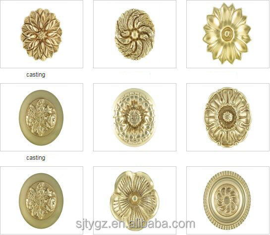Elegant wrought iron ornaments casting rosettes of decorative components
