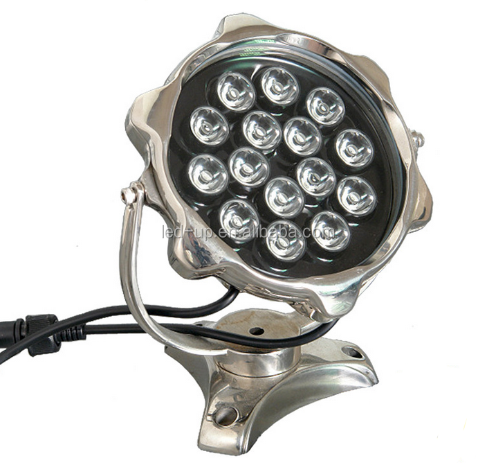 15W white led underwater light IP68 Stainless Steel pool lamp