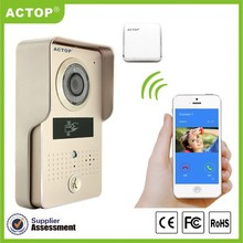 S/G color HD image wireless video door phone with GSM funciton video door phone for villa and home