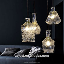 Pendant Light Crystal Zhongshan Mirror Glass Colored Chrome Glass Table Lamp Small Shades Chandelier