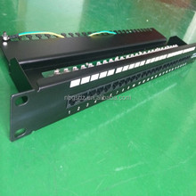 Manufacturer Cat3 High Quality RJ45 Patch Panel 110IDC 25 Port Fiber Optic Patch Panel