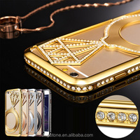 2016 new model slim diamond luxury phone hard back case cover for iphone 6