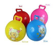 sit and bounce balls inflatable pvc bouncing hopper ball for kids with handle