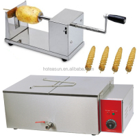 Hot Sale 2 in 1 Tornado Potato/Spiral Potato/Twister Potato Cutter + 220v Electric Deep Fryer