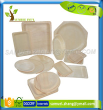 Disposable Biodegradable Compostable Wood Food Fruit Salad Sushi Serving Plate