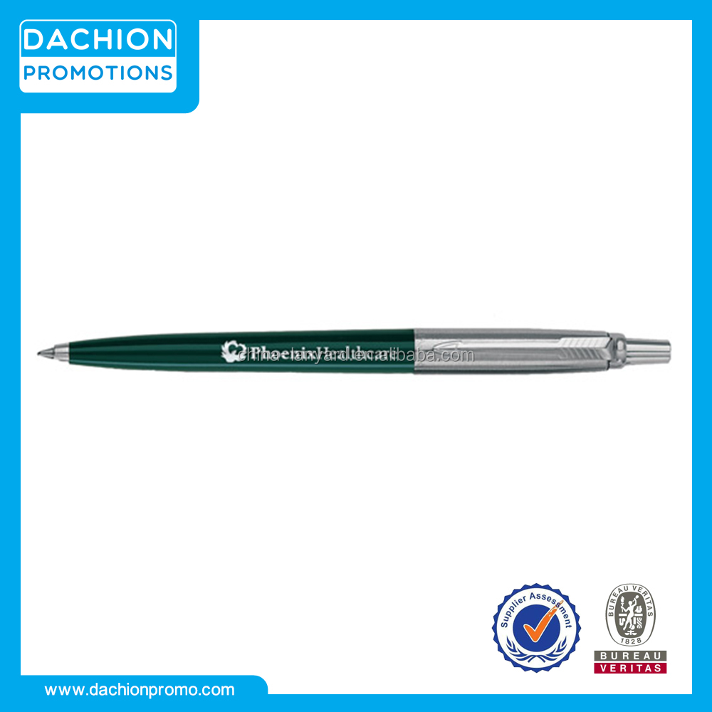 Customized Parker Jotter Ball Pen/metal pens with company logo/ink pen companies