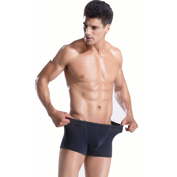 Wholesale Comfortable Solid Color Mens Underwear Boxers