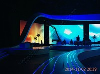 High quality P5.925 china sexy video curtain led display wall hot vide