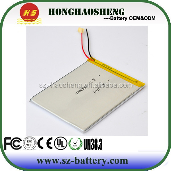3.7v 3000mah 3570105 recharegable li-polymer android tablet pc replacement battery