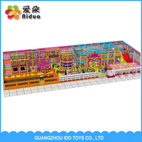 Attractive Indoor Playground for Kids, Children Plastic Playground Slide Material Happly Castle Play Center Equipment