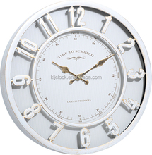 Modern plastic quartz wall clock , silent 3D numbers wall clock for china factory
