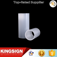 Top grade hot selling frosted milky white acrylic tube